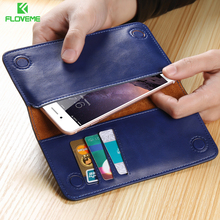 Buy FLOVEME Leather Case iPhone 6S 7 Plus 5S Samsung S8 S7 Edge Huawei P8 P9 Lite Xiaomi Mi5S Redmi 4 Card Slot Wallet Cover for $9.99 in AliExpress store