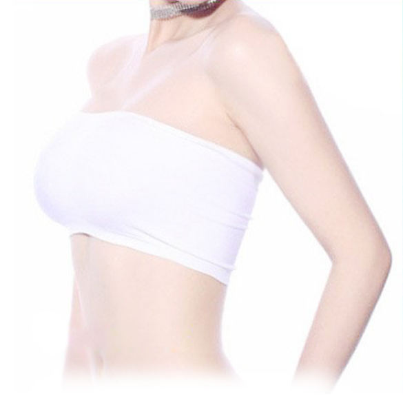Sexy Lady Sports Bra Chest Wrap Underwear Tube Top White LD789