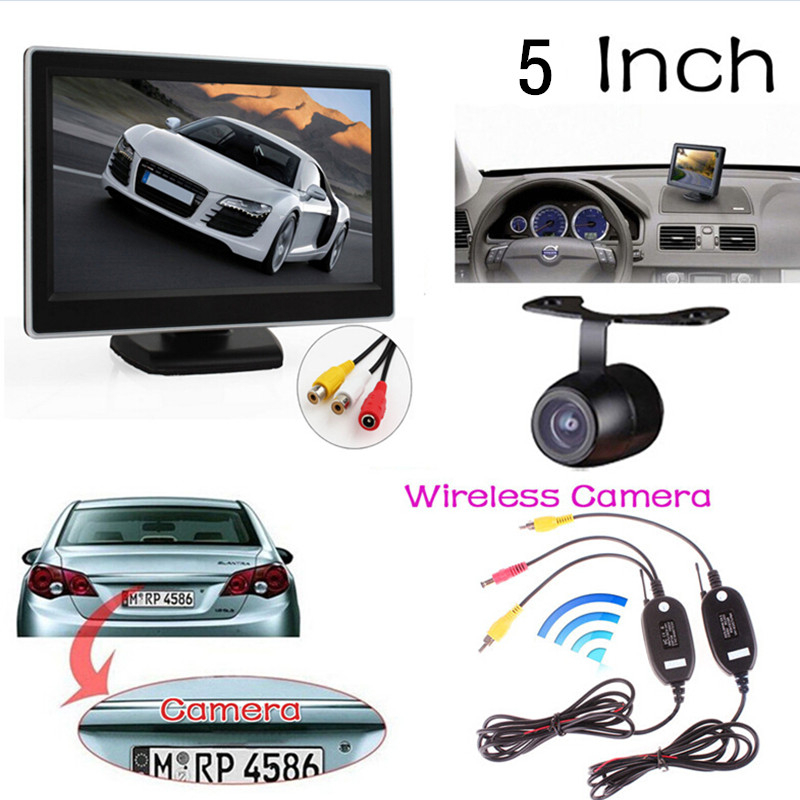 """5"""" TFT LCD Digital Car Rear View Monitor With Waterproof Automobiles Rearview Camera Video Transmitter And Receiver Kit(China (Mainland))"""