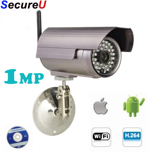 0.3MP outdoor use bullet waterpproof wireless wifi ip network ir night vision cctv video camera cell mobile phone remote view(China (Mainland))