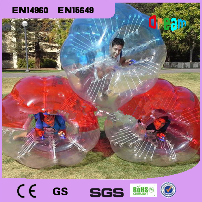 1.2m 0.8mm PVC outdoor soccer sports inflatable body bumper ball/bubble soccer zorb ball(China (Mainland))