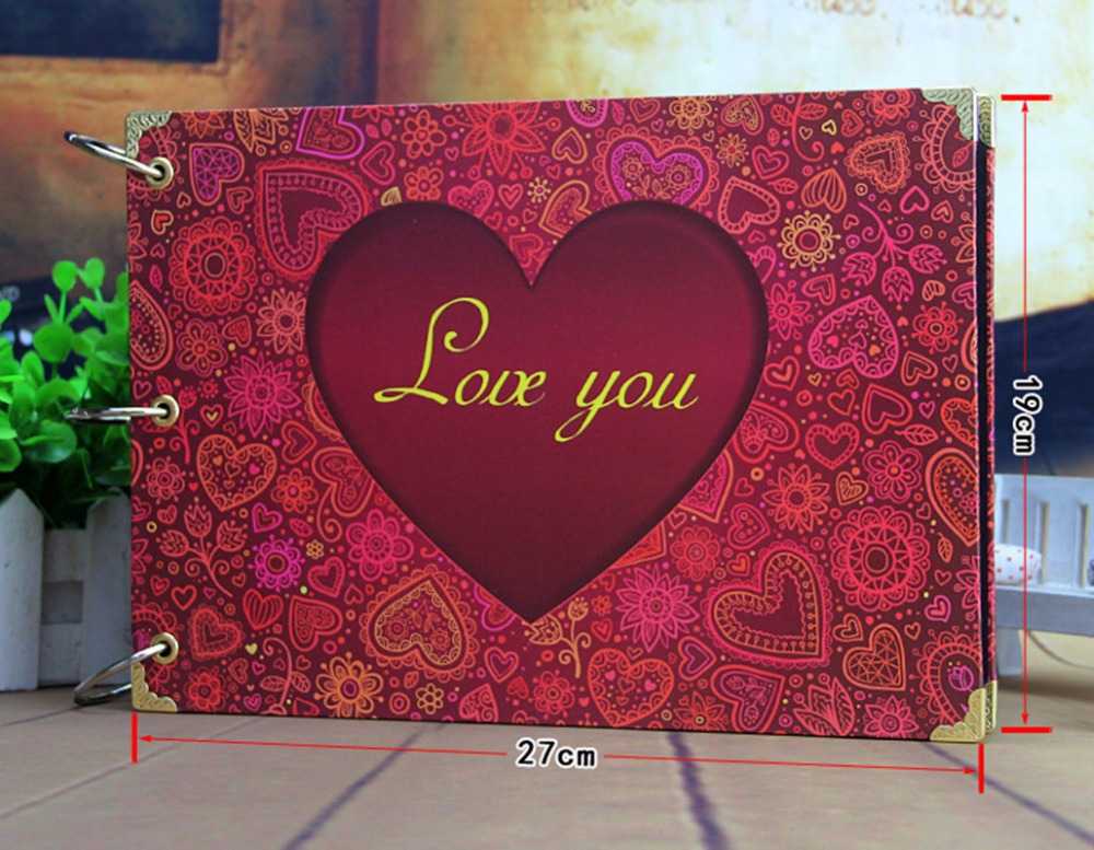 DIY Photo Album 10 Inch Family Photo Album Couples Autograph Album Handmade Sticky Type Black Paperboard 22Colors Wire Binding(China (Mainland))
