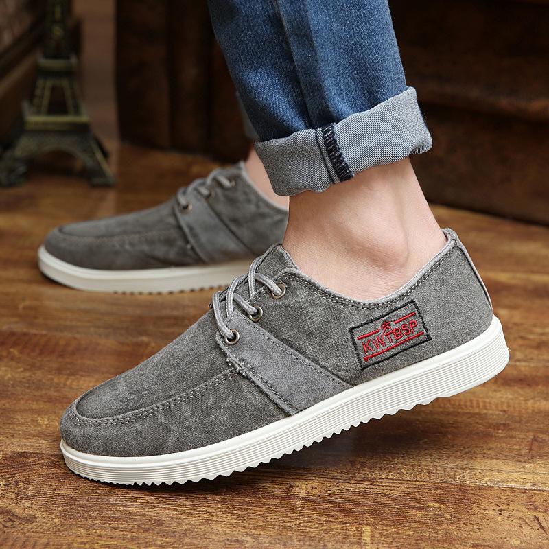 The new men's canvas shoes, casual men's shoes male Korean fashion sport shoes to help low