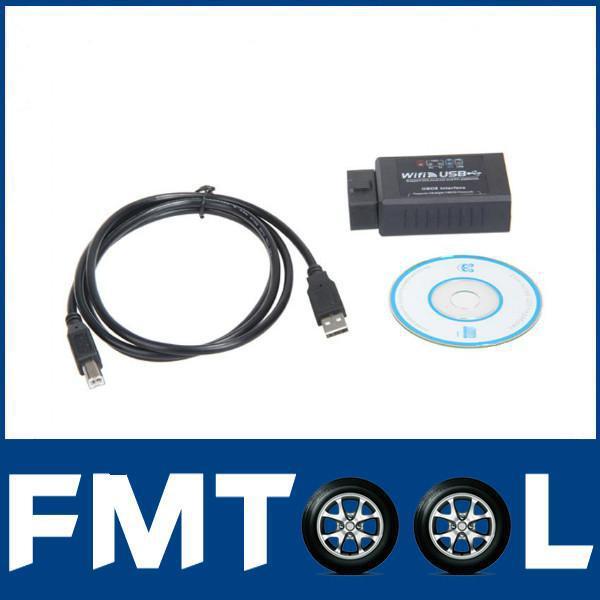 Оборудование для диагностики авто и мото WIFI327 USB WIFI OBD2 EOBD ELM327 WIFI