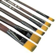 Free Shipping New Art Artist Supplies 6 Brown Nylon Paint Brushes(China (Mainland))