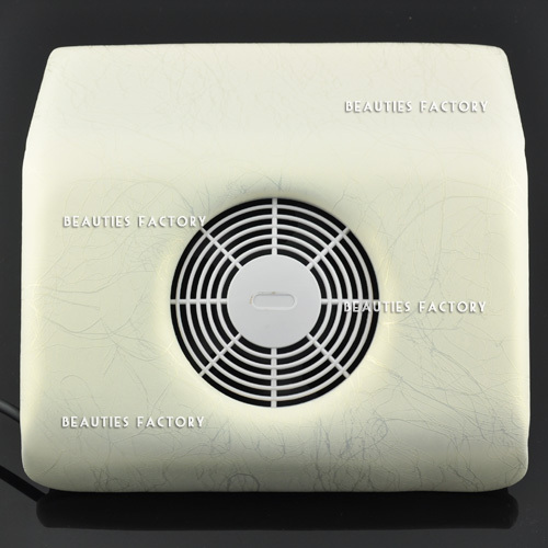 Beauties Factory Nail Art Dust Suction Collector & 2 Bags (White with Golden Veins pattern)(Hong Kong)