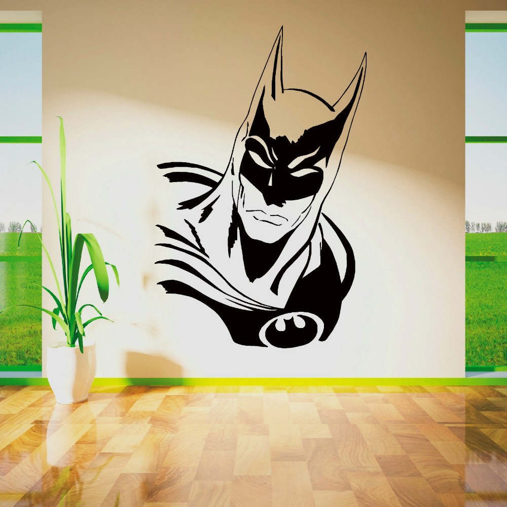 Batman wall art roselawnlutheran cool batman superhero vinyl removable wall art sticker poster wallpaper decor children themed room decals wall amipublicfo Image collections