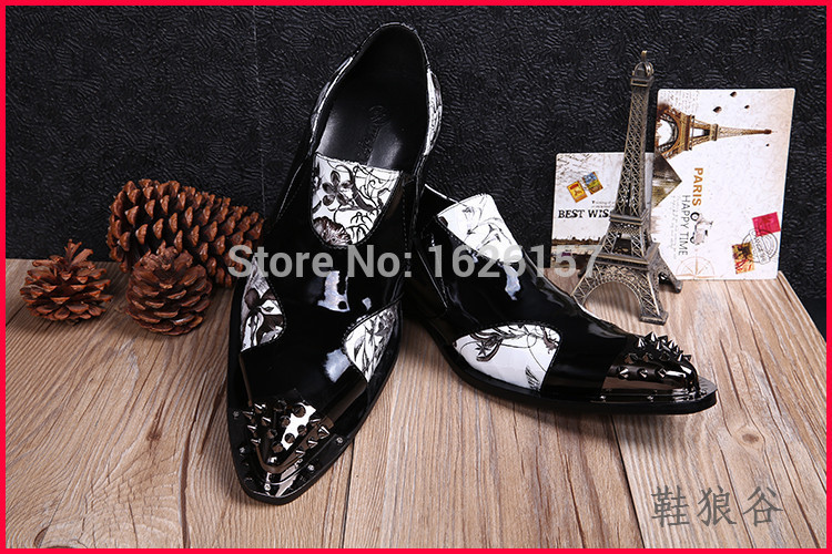 Hot Sale Luxury Brand Men Classic Oxfords Italian Mens Leather Dress Shoes New Men Formal Shoes Black White Patch Flowers 39-46 гайдель е ред формы и фигуры