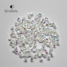 Buy 2017 New 200 PCs Mixed Crystal Glass AB Bicone Beads 5301 3mm Faceted Crystal Glass Quartz Loose Spacer Beads DIY Craft for $1.49 in AliExpress store