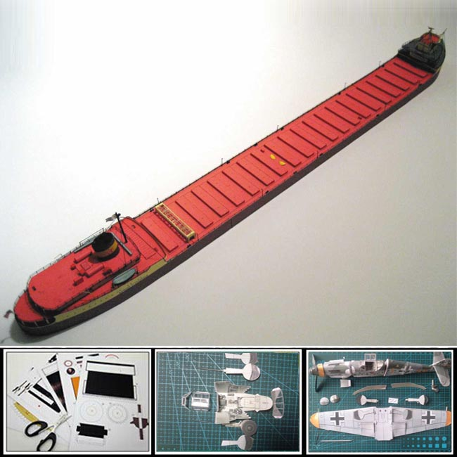 New 2016 Paper Model container ship US Great Lakes ore bulk carrier EDMUND FITZGERALD 1:400 scale 56CM Long 3d puzzle papercraft(China (Mainland))