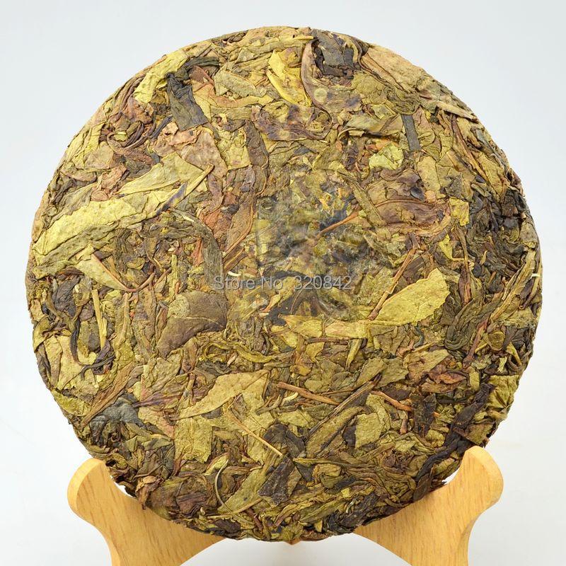raw puer tea 357g tea pu er Source spike tree of golden yellow piece goods Ye