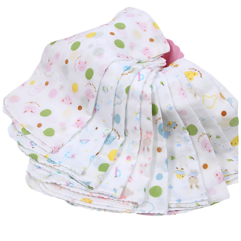 Towel To Wipe Sweat: 15pieces/lot 31x31cm Large 100% Cotton Baby Gauze Muslin