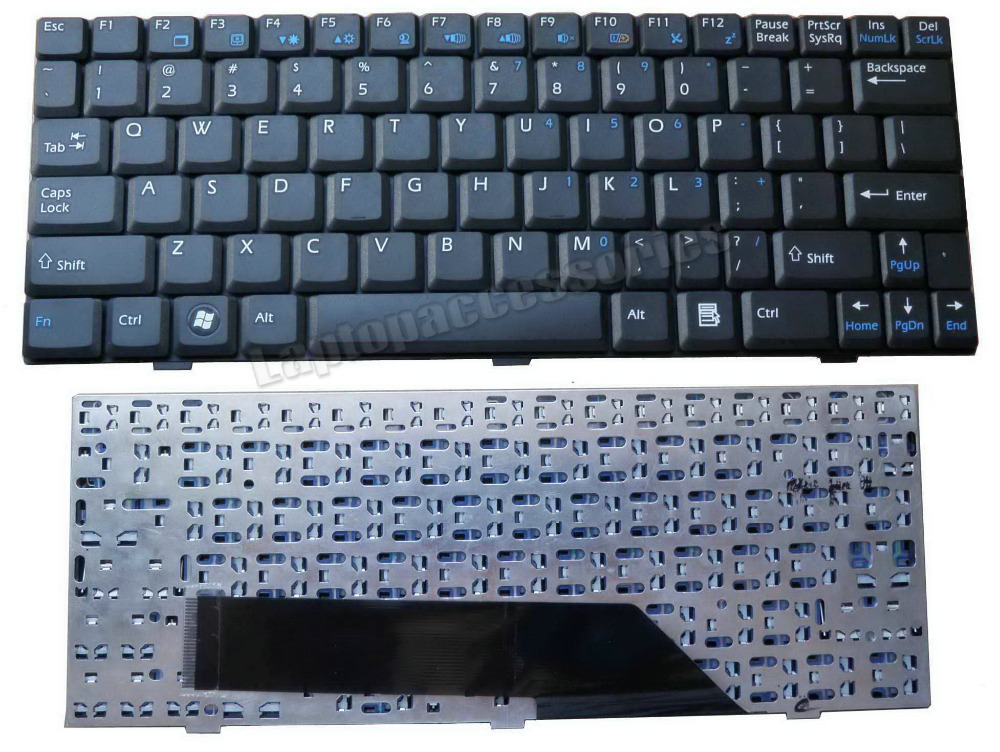 New Laptop Keyboard for MSI Wind N011 U115 U123 U123H U123T US Teclado Accessories Parts Replacement Wholesale QWERTY (K747)(China (Mainland))