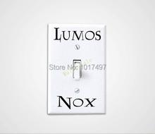 6 комплектов Lumos Nox Свет стикер переключателя, творческий стикер Switch Винил Гарри Поттер бесплатная доставка