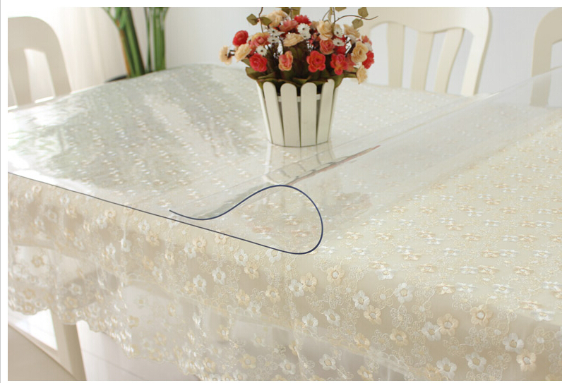 Tablecloths waterproof oil soft PVC transparent glass coffee table cloth tablecloth mat crystal panels can be customized(China (Mainland))