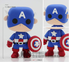 Original BONNIE Captain America 3D Joy Dough Polymer Modeling Clay Cartoon Series Play The Avengers Super Heroes Toy A32(China (Mainland))
