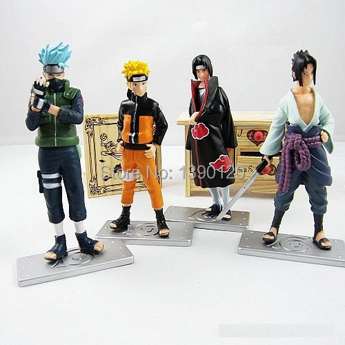 Good PVC Anime 17th Generation Naruto Model brinquedos Toy Action Figure 4pcs/set For Decoration Collection Gift(China (Mainland))