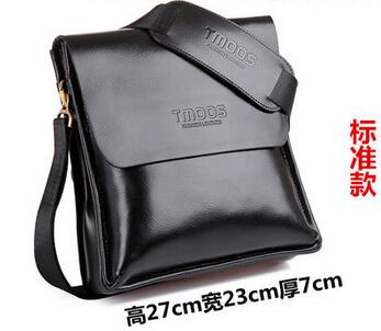 new 2015 hot sale fashion men bags high quality man shoulder bag wholesale price men famous brand design leather messenger bag(China (Mainland))