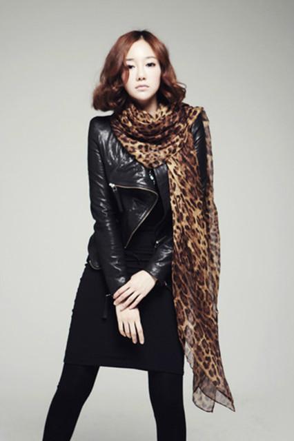 Большой размер бесплатная доставка 2016 Новый стиль женщин длинный шелковый леопардовый шарф бархат женская аксессуары JD-02