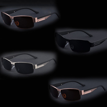 The new Plated blue film sunglasses polarized sunglasses male models within a polarizer Brand sunglasses with