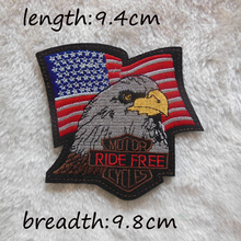 1pcs new style high-quality hot melt adhesive applique embroidery patch US flag patches fitting dress pants Eagle patches
