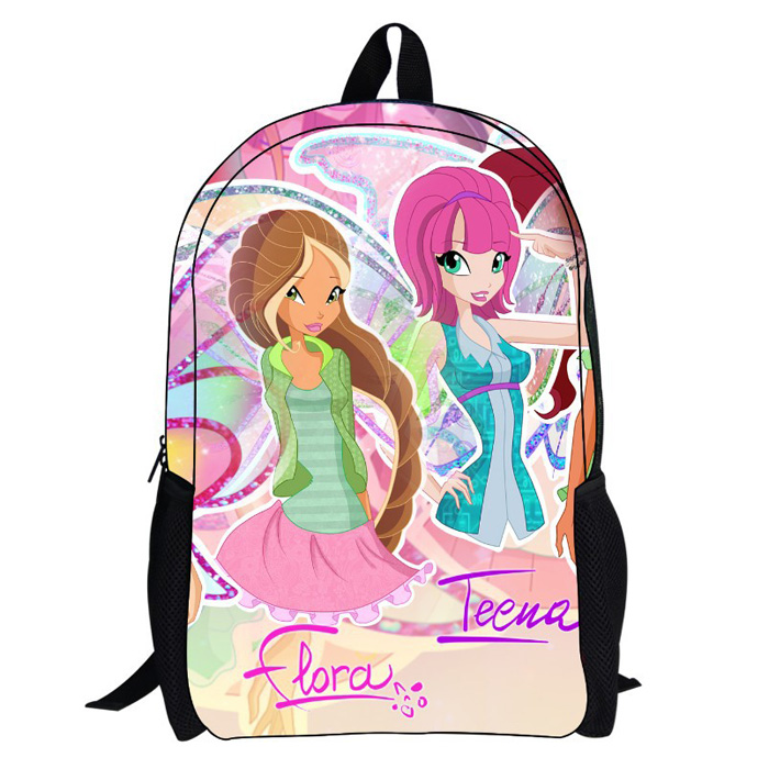 New 2014 Winx Club Kids School Bags,Children 3D Cartoon Mochilas Infantil School Kids Backpacks(China (Mainland))