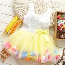 Casual Flower Baby Girl Dress Clothes Summer Dresses Sleeveless Kids Dress For Girls Children Dress
