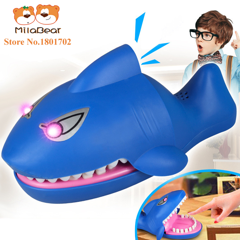 Funny Electronic Shark Mouth Dentist Toys Lighting Sounds Bite Finger Fun Party Games Play Kids Special Gifts - Brand Children's MILA store