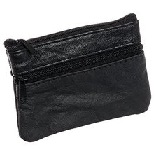 Genuine Leather Coin Purse Slim Mini Wallet Men Women Small Change Bags Cards Key Holder Pouch Coin Purses Wallets free shipping(China (Mainland))