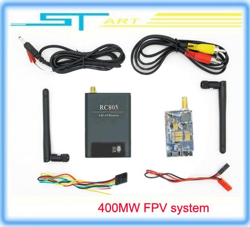 Фотография Low shipping fee FPV 5.8G 400mw 8 Channel wireless 5.8Ghz AV Audio Video TX&RX Transmitter and Receiver system RC805 & TX305