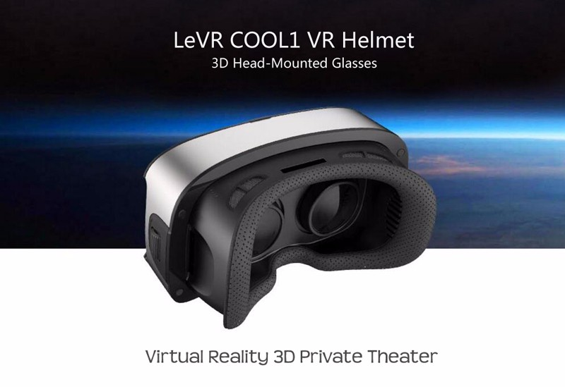 Letv LeVR COOL1 VR Helmet 3D Head-Mounted Glasses Virtual Reality 3D Game Video Private Theater for Letv 1/Letv 1 Pro cellphone