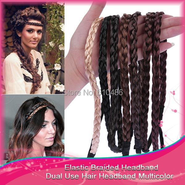1PC Elastic Hairband Women Wig Braid Braided Hair Accessories Head Band Hair Weaving Ring Rope Dance Headwear(China (Mainland))
