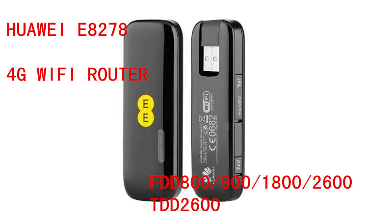 HUAWEI E8278s-602 e8278s 150Mbps LTE Cat4 Wi-Fi Dongle pk E3276 E398 E392