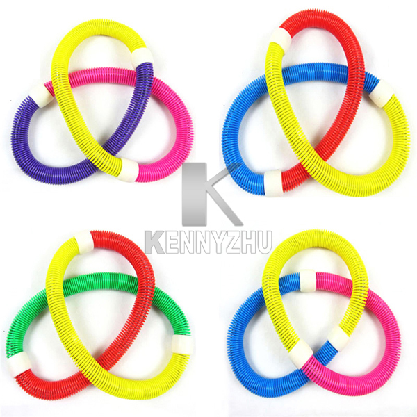 10pcs/lot Fashion Elastic Spring Waist Slimming Thin Soft Hula Hoop For Fitness Exercise free DHL