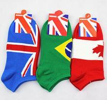 free shipping   men athletic shoes socks women's cotton sport socks lover flag short socks P1110