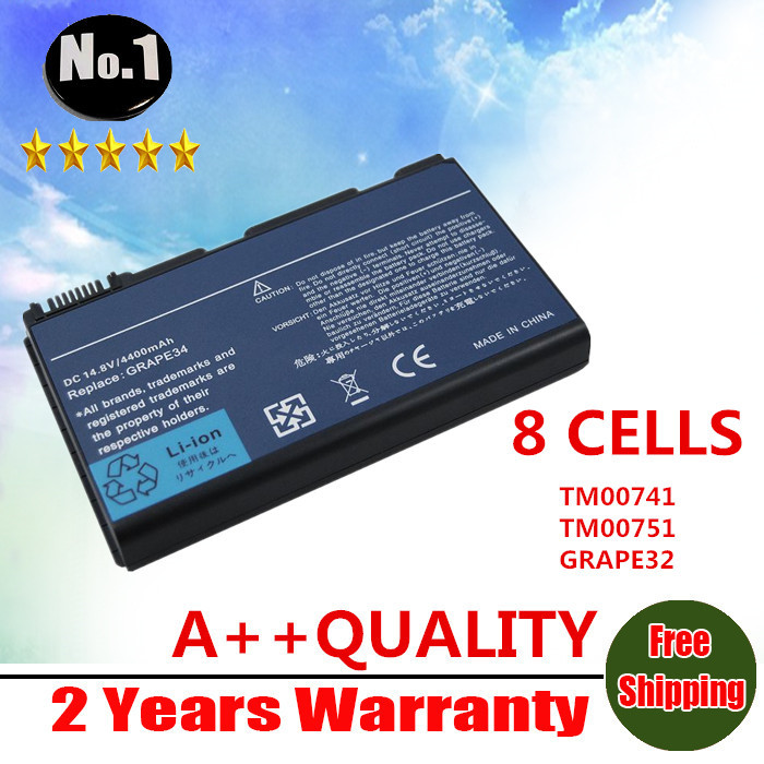 WHOLESALE New 8 cells laptop battery for Acer TravelMate 5310 5320 5520 5520G 5530 5530G 5710 5720 6410 free shipping(China (Mainland))