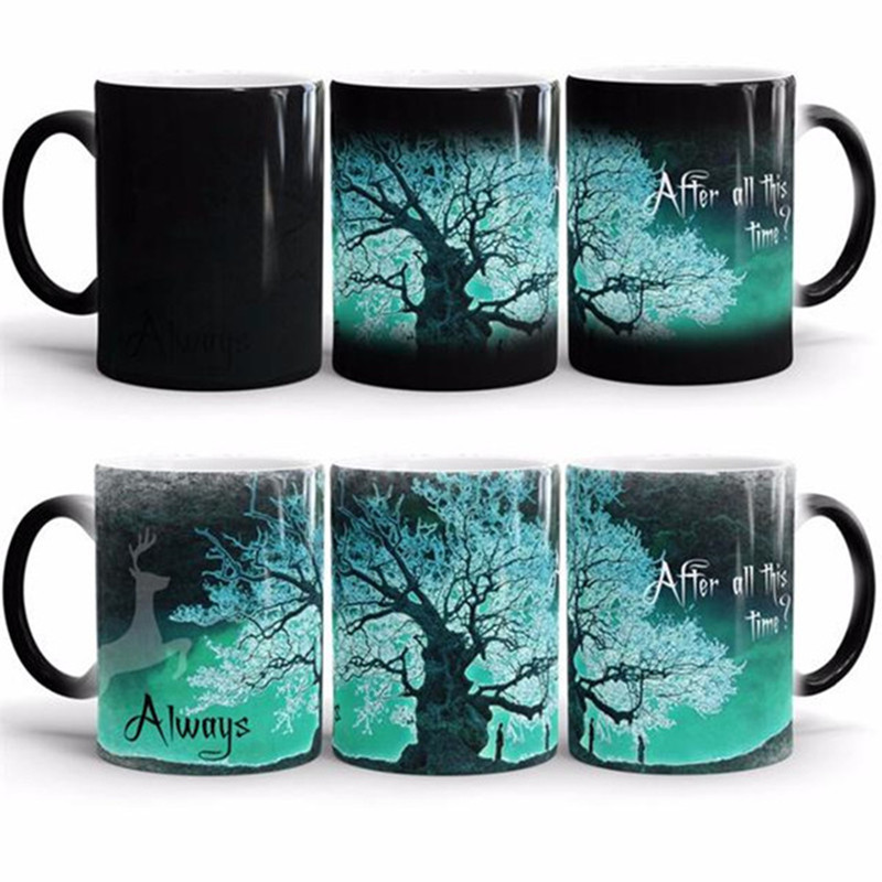 New Harry Potter Coffee Mug Color Changing Cup After all this time Tasse Copo Sensitive Ceramic Tea La Copa Creative Dinkware(China (Mainland))
