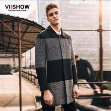 Fashion Men wide-waisted Designed Jacket Hot Stylish Woolen Jacket Single Breasted Trench Coat long overcoat(China (Mainland))