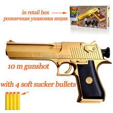 Desert eagle spielzeugpistole kunststoff gun spielzeug mit weichen kugeln geschenke für jungen 10m Schuss im Einzelhandel box mit geschenk(China (Mainland))