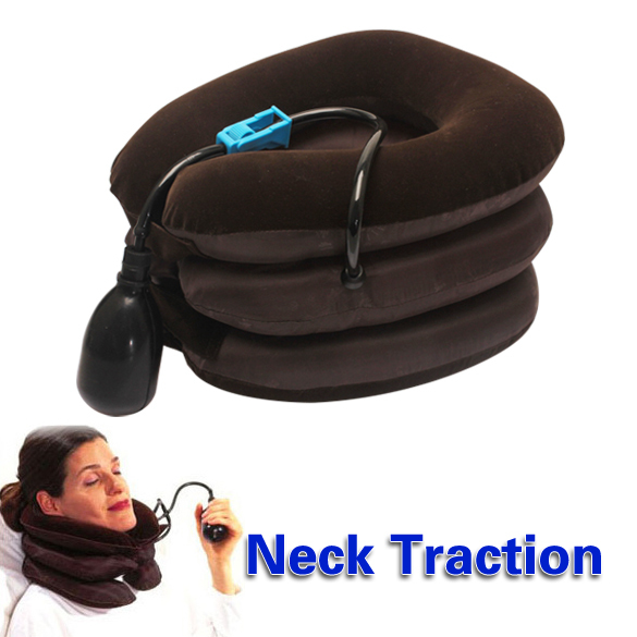 Air Cervical Neck Traction Soft Brace Device Unit for Headache Head Back Shoulder Neck Pain PTSP(China (Mainland))