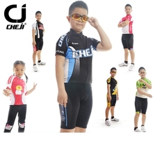Buy CHEJI Children Cycling Clothing Boys Girls Bike Jersey Shorts Sets Team Bicycle ciclismo Kids mtb Shirts Cyc Top Suits for $27.27 in AliExpress store