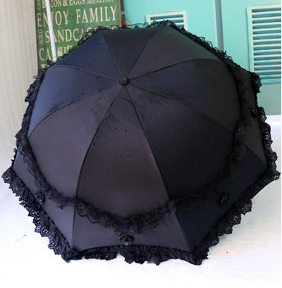 2016 Princess brand new arched creative folding umbrella sun umbrella lace parasol umbrella rain women guarda chuva(China (Mainland))
