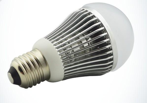 5pcs/lot E27 E26 B22 3W led bulb SMD5730 3w led light ,Fin sink Aluminum shell led globe light AC85-265V(China (Mainland))