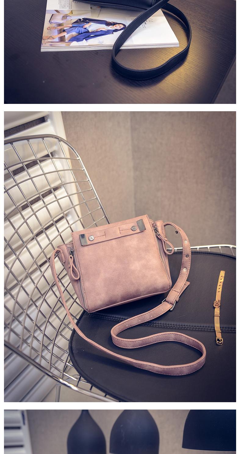 Simple Fashion New Korean Style Small Handbag Nubuck Leather Side Zippers Cheap Shoulder Bag Women Designer Crossbody Bag