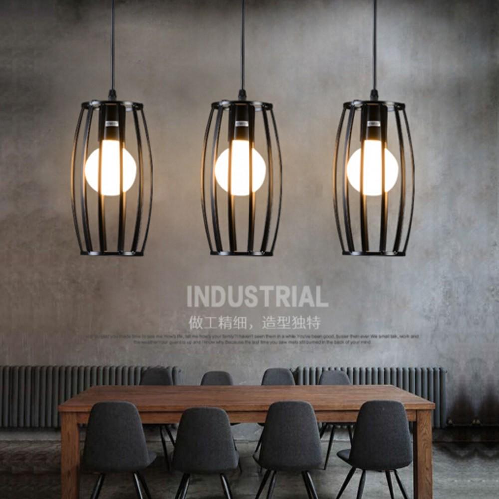 Retro Pendant Lamp Edison Loft Style Vintage Industrial Metal Cylindrical Light E27 Holder Restaurant Bar Counter Attic Lamp(China (Mainland))