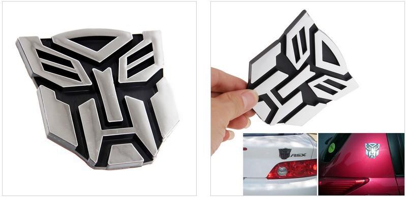 Car Decoration Transformers Sticker Logo Metal 3D Autobot Decepticon Emblem Badge Decal Truck Car Styling #48(China (Mainland))