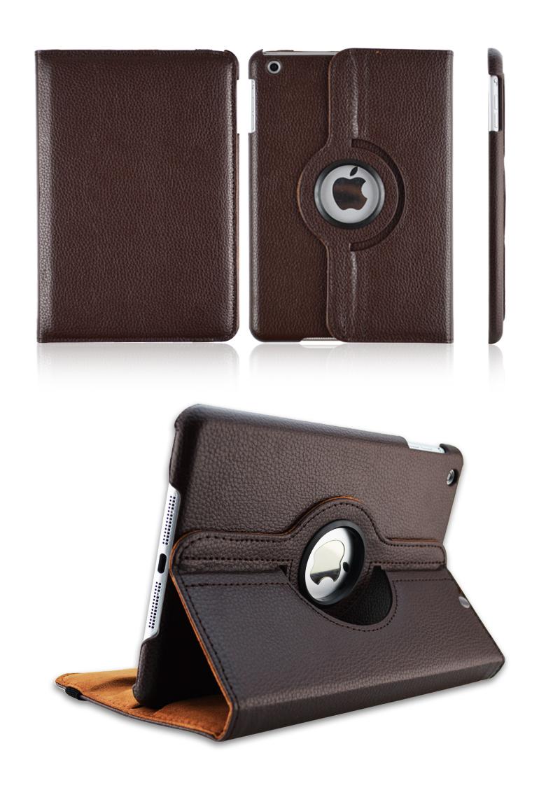 Top Quality 360 Rotating Leather Stand Flip Case For Apple Ipad mini mini 2 mini 3