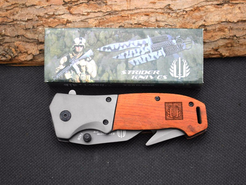 Buy New Survival Knife 5CR13 Steel Blade Strider Pocket Folding Knife Hunting Tactical Knives Camping Outdoor EDC Tools y52 cheap