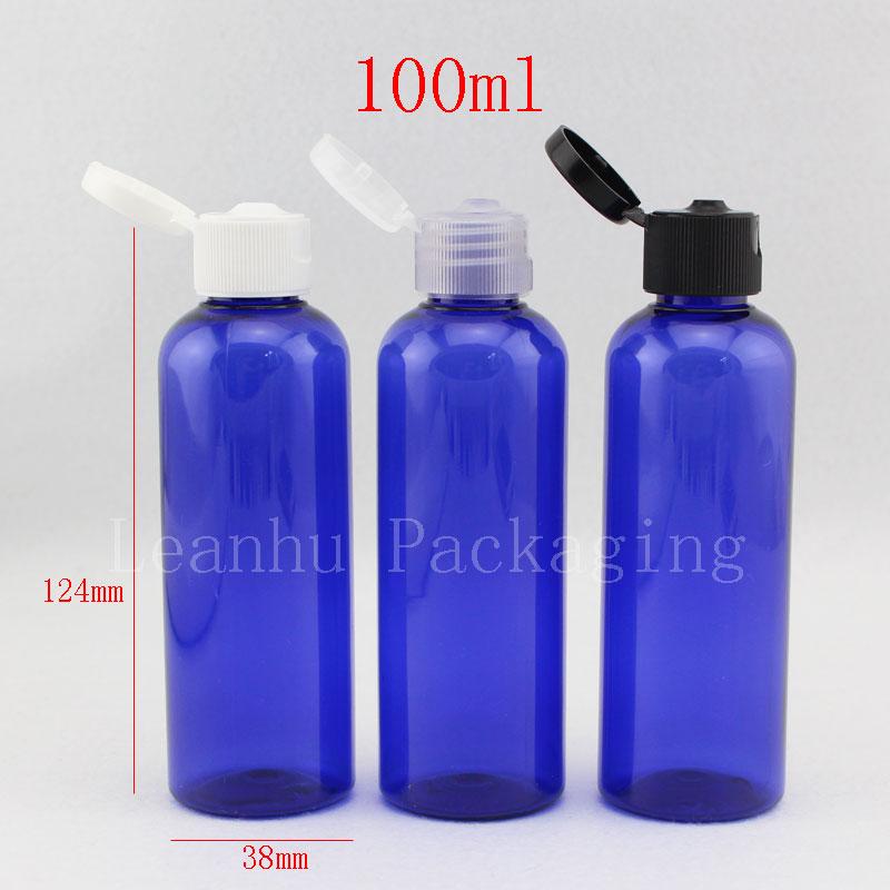 100ml Empty Blue Shampoo Plastic Travel Bottles With Flip