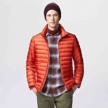 Feather Jackets Man Ultralight Down Jacket Men Outdoors Stand Collar Winter Parka With Buggy Bag Down